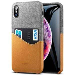 For iPhone Xs Max Wallet Case soft fabric premium PU leather case