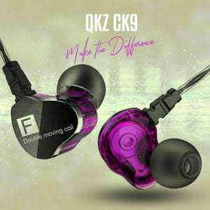 4D QKZ CK9 Dual Driver In Ear Gaming DJ with Mic Headphone