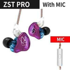 KZ ZST Pro Party HIFI Bass Noise Cancelling Earbuds
