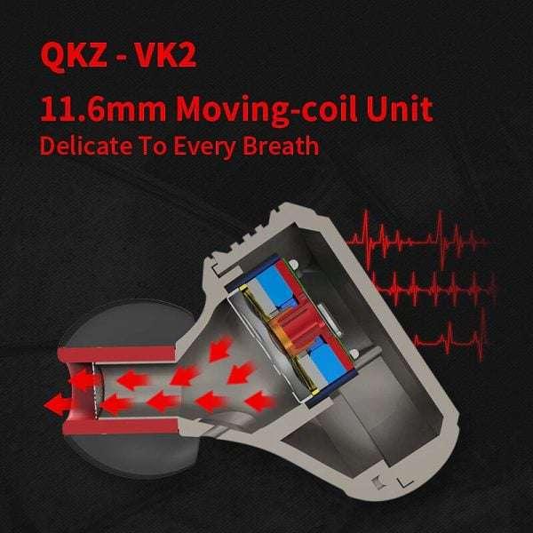 QKZ VK 2 2DD Hybrid Technology with DJ Beats Earphone